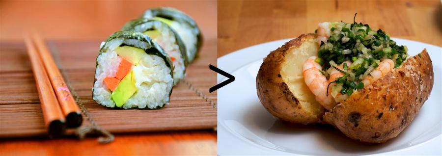 Ryža vs. zemiaky